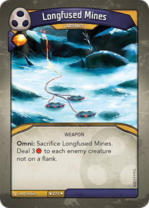 Longfused Mines, a KeyForge card illustrated by Gong Studios
