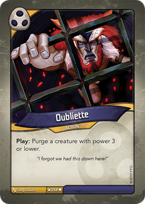 Oubliette, a KeyForge card illustrated by Gong Studios