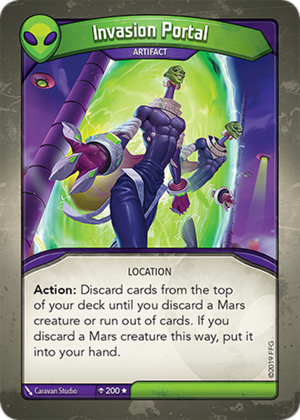 Invasion Portal, a KeyForge card illustrated by Caravan Studio
