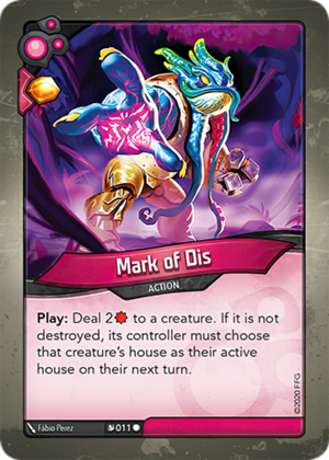Mark of Dis, a KeyForge card illustrated by Fábio Perez