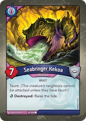 Seabringer Kekoa, a KeyForge card illustrated by Ângelo Bortolini