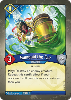 Numquid the Fair, a KeyForge card illustrated by Eric Kenji Aoyagi