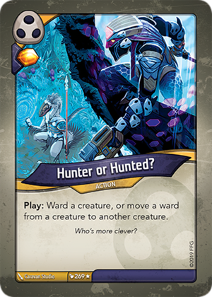 Hunter or Hunted?, a KeyForge card illustrated by Caravan Studio