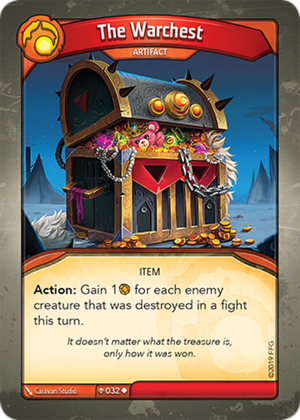 The Warchest, a KeyForge card illustrated by Caravan Studio