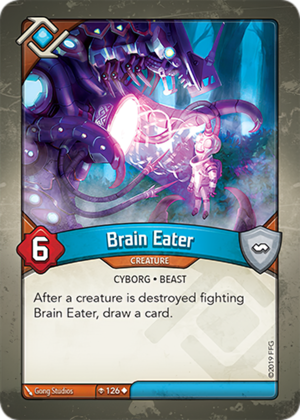 Brain Eater, a KeyForge card illustrated by Gong Studios