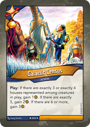 Galactic Census, a KeyForge card illustrated by Gong Studios
