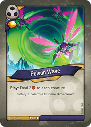 Poison Wave, a KeyForge card illustrated by Gong Studios