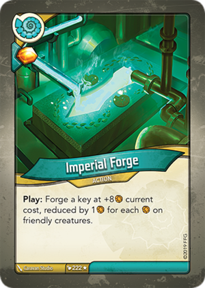 Imperial Forge, a KeyForge card illustrated by Caravan Studio