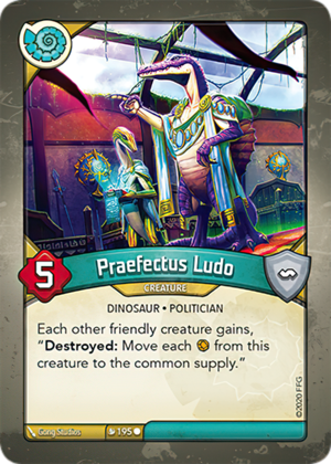 Praefectus Ludo, a KeyForge card illustrated by Gong Studios