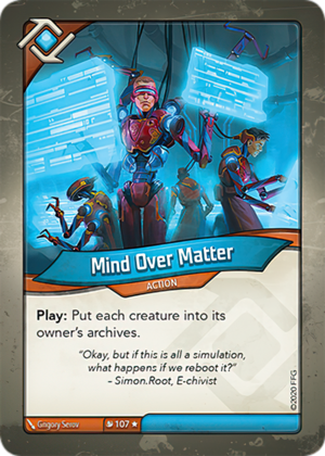 Mind Over Matter, a KeyForge card illustrated by Grigory Serov