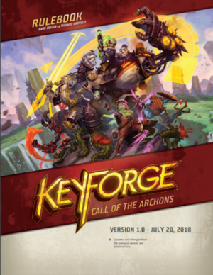 KeyForge rulebook cover from 2018