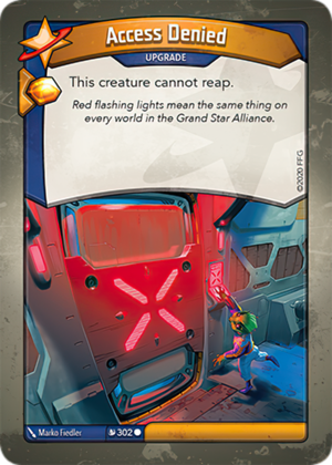 Access Denied, a KeyForge card illustrated by Marko Fiedler