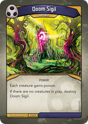 Doom Sigil, a KeyForge card illustrated by Sean Donaldson