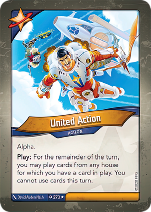 United Action, a KeyForge card illustrated by David Auden Nash