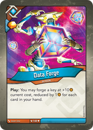 Data Forge, a KeyForge card illustrated by Jason Juta