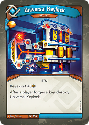 Universal Keylock, a KeyForge card illustrated by Gong Studios