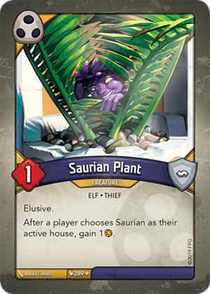 Saurian Plant, a KeyForge card illustrated by Marko Fiedler