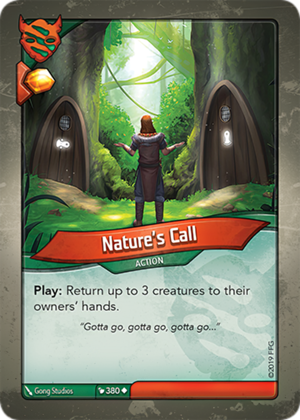Nature's Call, a KeyForge card illustrated by Gong Studios