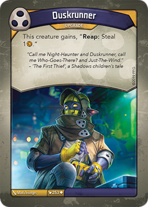 Duskrunner, a KeyForge card illustrated by Matt Zeilinger