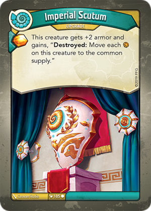 Imperial Scutum, a KeyForge card illustrated by Caravan Studio