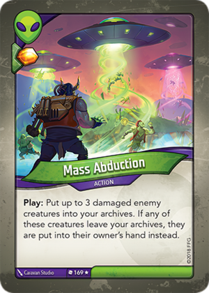 Mass Abduction, a KeyForge card illustrated by Caravan Studio