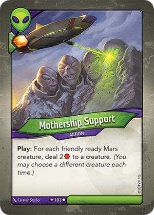 Mothership Support, a KeyForge card illustrated by Caravan Studio