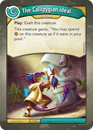 The Callipygian Ideal, a KeyForge card illustrated by Adam Vehige