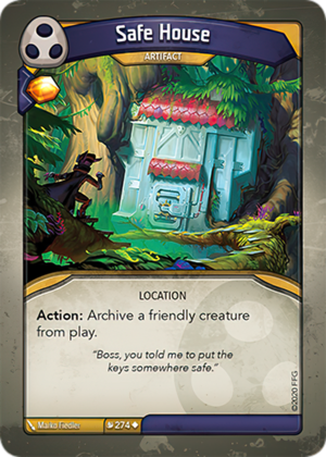 Safe House, a KeyForge card illustrated by Marko Fiedler