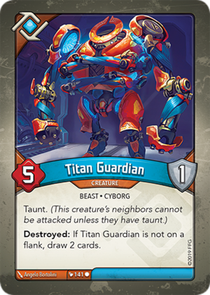 Titan Guardian, a KeyForge card illustrated by Ângelo Bortolini