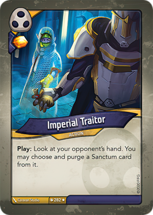 Imperial Traitor, a KeyForge card illustrated by Caravan Studio
