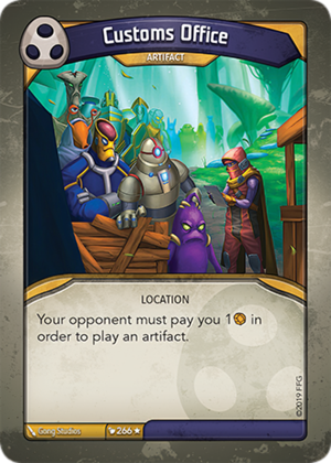 Customs Office, a KeyForge card illustrated by Gong Studios