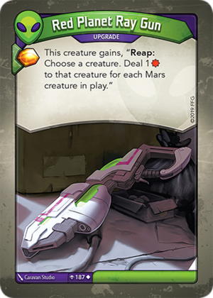 Red Planet Ray Gun, a KeyForge card illustrated by Caravan Studio