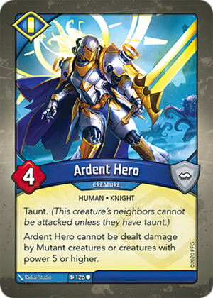 Ardent Hero, a KeyForge card illustrated by Radial Studio