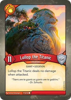 Lollop the Titanic, a KeyForge card illustrated by Etienne Hebinger