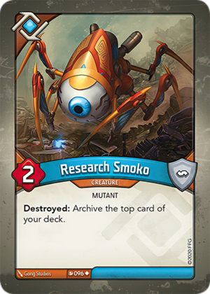 Research Smoko, a KeyForge card illustrated by Gong Studios