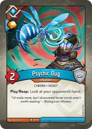 Psychic Bug, a KeyForge card illustrated by Gong Studios