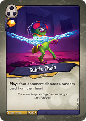 Subtle Chain, a KeyForge card illustrated by Gong Studios