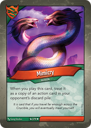 Mimicry, a KeyForge card illustrated by Gong Studios