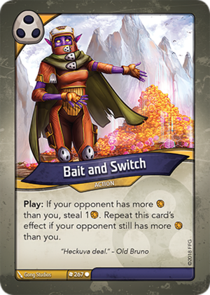 Bait and Switch, a KeyForge card illustrated by Gong Studios