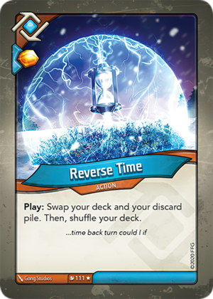 Reverse Time, a KeyForge card illustrated by Gong Studios