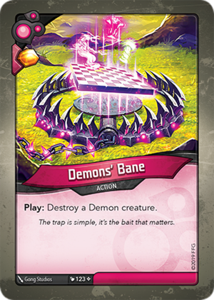 Demons' Bane, a KeyForge card illustrated by Gong Studios
