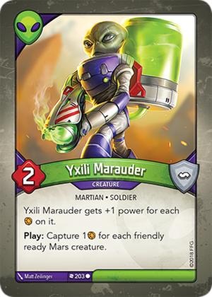 Yxili Marauder, a KeyForge card illustrated by Matt Zeilinger