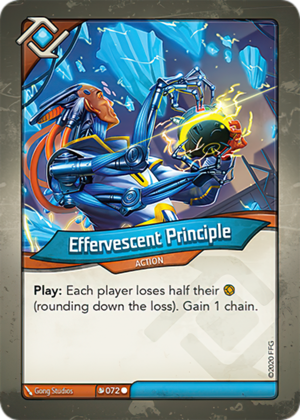 Effervescent Principle, a KeyForge card illustrated by Gong Studios
