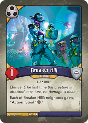 Breaker Hill, a KeyForge card illustrated by Gong Studios