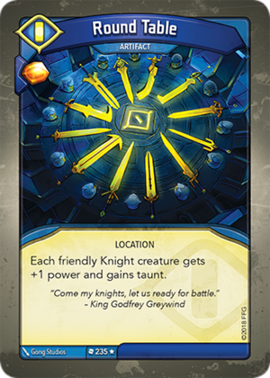 Round Table, a KeyForge card illustrated by Gong Studios