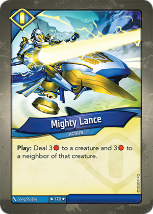 Mighty Lance, a KeyForge card illustrated by Gong Studios