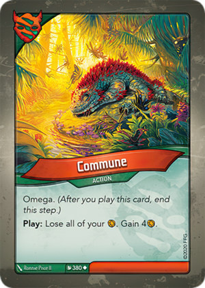 Commune, a KeyForge card illustrated by Ronnie Price II