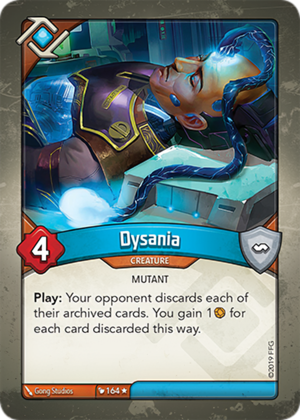 Dysania, a KeyForge card illustrated by Gong Studios