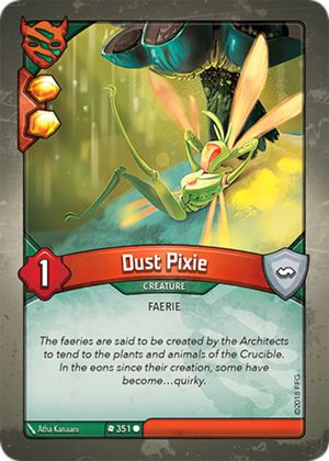 Dust Pixie, a KeyForge card illustrated by Atha Kanaani