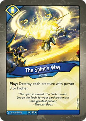 The Spirit's Way, a KeyForge card illustrated by Caravan Studio